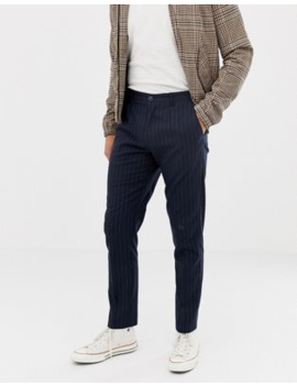 Selected Homme Tapered Fit Pants With Chalk Stripe by Selected Homme