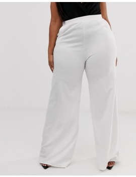 Koco &Amp; K Plus Wide Leg Pants In Ivory by Plus Size Pants