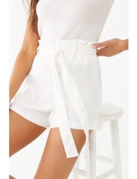 Solid Paperbag Shorts by Forever 21