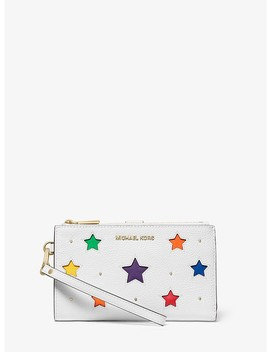 Adele Star Cutout Pebbled Leather Smartphone Wallet by Michael Michael Kors