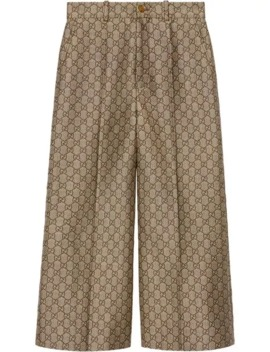 Gg Culotte Van Wol En Canvas by Gucci