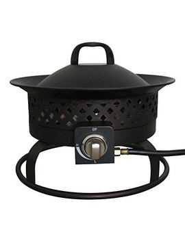 Bond Manufacturing 67836 Aurora Steel Gas Firebowl, Rubbed Bronze by Bond Manufacturing