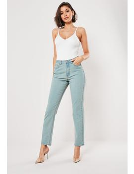 Blue Wrath Vintage Wash High Waisted Straight Leg Jeans by Missguided