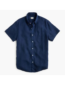 Tall Short Sleeve Baird Mc Nutt Irish Linen Shirt by J.Crew