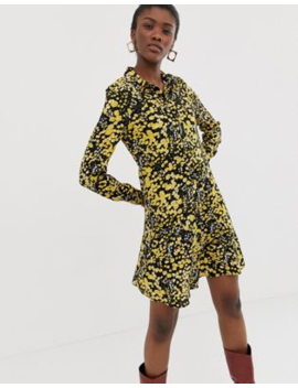 Pieces Floral Shirt Dress by Pieces