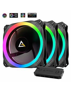 Antec Prizm 120mm Addressable Rgb Case Fan Radiator   3 Pack And 2 Rgb Strips by Antec