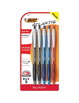Bic® Retractable Ballpoint Pen, 5ct   Multicolor Ink by Multicolor Ink