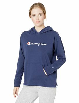 Champion Women's Heavyweight Jersey Pullover Hoodie by Champion