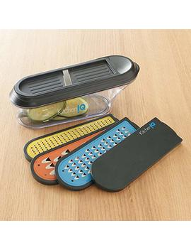 Kitchen Iq Container Grater With V Etched Nonstick Blades &Amp; Ceramic Slicer by Kitchen Iq
