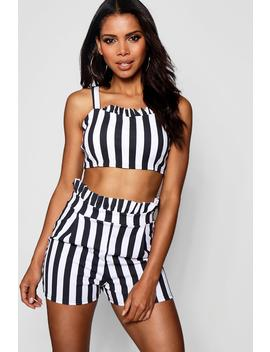 Stripe Short Co Ord Set by Boohoo