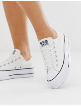 Converse Chuck Taylor Ox Platform White Trainers by Converse