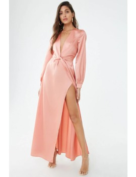 Satin Twist Front Maxi Dress by Forever 21