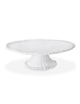 Vida Alegria Pedestal Cake Plate White   Beatriz Ball by Beatriz Ball