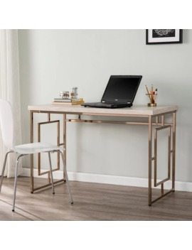 Silver Orchid Ham Faux Stone Writing Desk by Silver Orchid