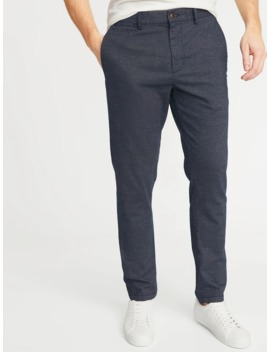 Relaxed Slim Built In Flex Textured Ultimate Pants For Men by Old Navy
