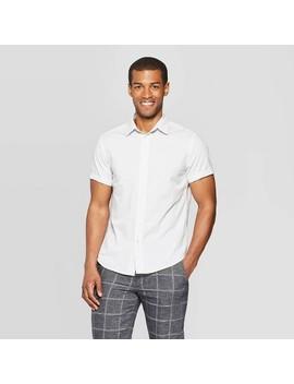 Men's Jacquard Short Sleeve Novelty Button Down Shirt   Goodfellow &Amp; Co by Down Shirt