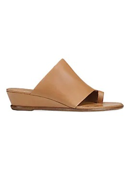 Darla Leather Toe Strap Wedge Sandals by Vince