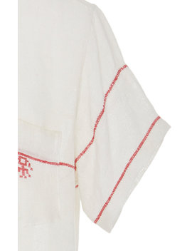cross-stitch-embroidered-cotton-shirt by bode
