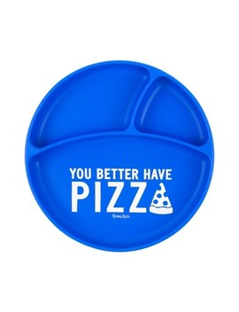 Tunno Tots You Better Have Pizza Suction Plate   Blue by Blue