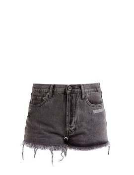 Frayed Denim Shorts by Off White