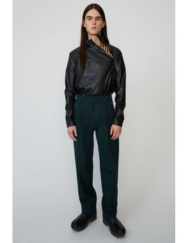 Voluminous Trousers Forest Green/Black by Acne Studios