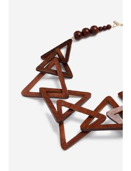 **Triangle Wood Collar by Topshop