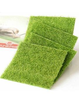 Shindel Fairy Artificial Grass, Artificial Garden Grass, Ornament Garden Dollhouse, 6''x 6'', 4 Pcs by Shindel
