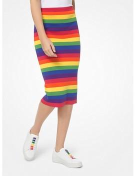 Rainbow Stretch Viscose Pencil Skirt by Michael Michael Kors