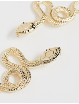 Asos Design Earrings With Twisted Snake Design In Gold Tone by Asos Design
