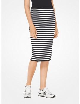 Striped Stretch Viscose Pencil Skirt by Michael Michael Kors