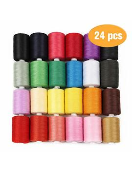 Haitral Cotton Sewing Thread Sets   24 Color Spools Thread, 1000 Yards Sewing Kits Thread For Sewing Machine by Haitral