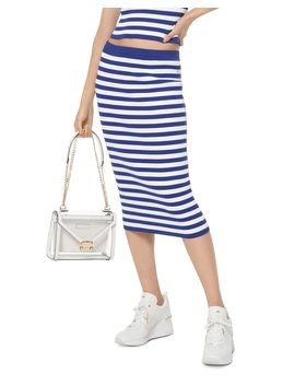 Striped Stretch Pencil Skirt by Michael Michael Kors
