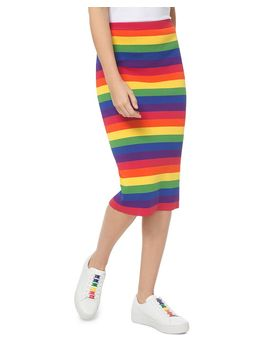 Rainbow Stretch Pencil Skirt by Michael Michael Kors