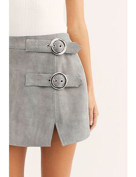 Understated Buckle Mini Skirt by Understated Leather