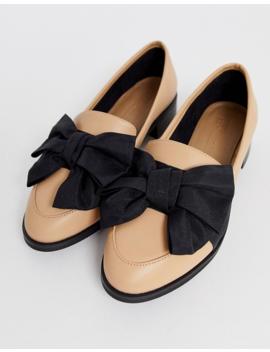 Asos Design Matchsticks Flat Shoes In Beige by Asos Design