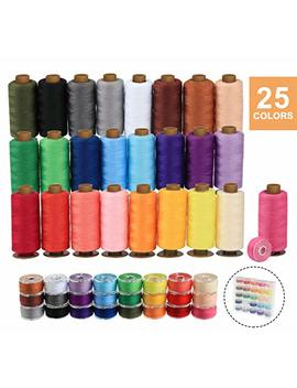 Ilauke 50 Pcs Bobbins Sewing Threads Kit, 400 Yards Per Polyester Thread Spools, Prewound Bobbin With Case For Brother Singer Janome Machine, 25 Colors by Ilauke