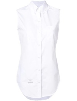 Sleeveless Button Down Shirt by Thom Browne