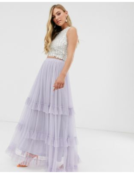 Lace &Amp; Beads Maxi Tulle Skirt by Lace & Beads