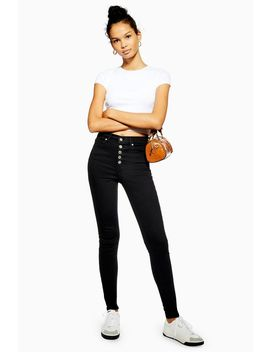 Tall Black Button Fly Jamie Jeans by Topshop