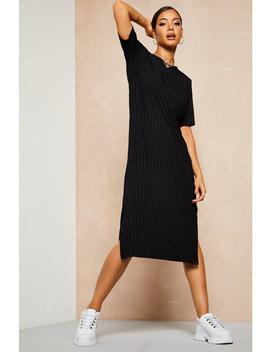 Recycled Rib Tunic Midi Dress by Boohoo