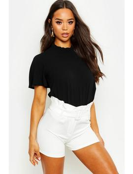 Ruffle Neck Angel Sleeve Blouse by Boohoo