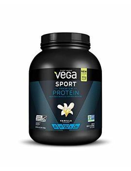 Vega Sport Protein Powder Vanilla (45 Servings, 65.6 Oz) Plant Based Vegan Protein Powder, Bca As, Amino Acids, Tart Cherry, Non Dairy, Keto Friendly, Gluten Free, Non Gmo (Packaging May Vary) by Vega