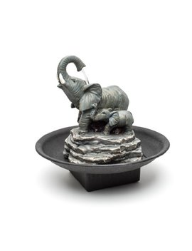 Decor Desk Elephant Watering Hole Fountain   Water Fountain by Relaxus