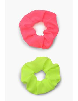 Neon Scrunchie 2 Pack by Boohoo