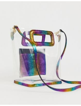 &Amp; Other Stories Clear Rainbow Mini Tote Bag by & Other Stories
