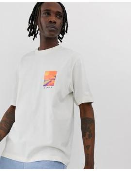 Camiseta De Corte Holgado En Color Hueso Con Estampado Fotográfico De Asos White by Asos White