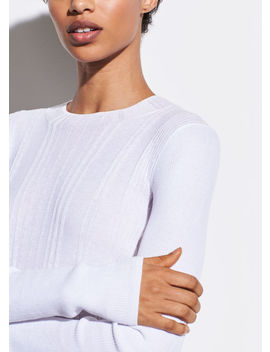 Variegated Rib Mock Neck by Vince