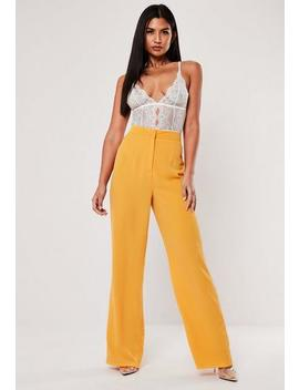 Yellow Co Ord Straight Leg Trousers by Missguided