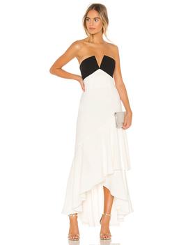 Strapless Ruffle Gown by Jill Jill Stuart