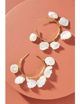 Amber Sceats Bobbie Pearl Hoop Earrings by Amber Sceats